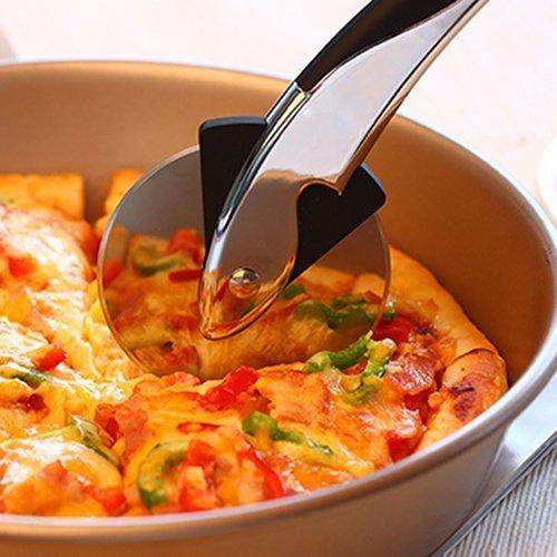 Ohuhu® Rotella Tagliapizza in Acciaio Inox Resistente, Taglia Pizza per Cucina, Ristorante, Pizzeria