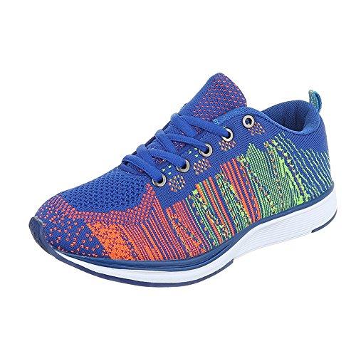 Ital-Design, Sneaker donna Blau Multi BY15280