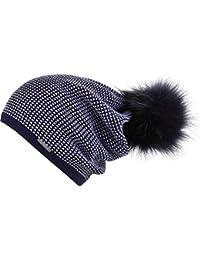 Chillouts Arabella A Bonnet d'hiver en bleu marine Femme Bonnet Pompon