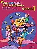 Spiel und Spaß mit der Blockflöte: Neuausgabe, herausgegeben von Gudrun Heyens und Gerhard Engel. Band 1. Sopran-Blockflöte m