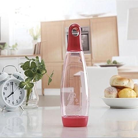 MaMaison007 Borraccia 600ml Bowling creativo vetro bollitore campagna tazza di acqua per il campeggio escursionismo - rosso