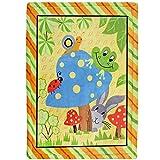 Delindo Lifestyle® Tapis d'éveil Wiesen Réunion–Couverture de jeu–Douce Couverture pour bébé 110x 140cm–Pour fille et garçon