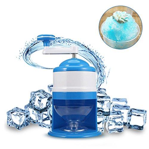 Cheerfulus Ice Crusher, DIY Eiscrusher, Neues kompaktes Modell Eiszerkleinerer, Eis Zerkleinerer, Eismaschine-Blau