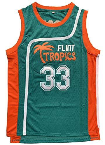 vinking Flint Tropics Jackie Moon #33 Coffee Black #7 Semi Pro Basketballtrikot grün weiß - Grün - Groß