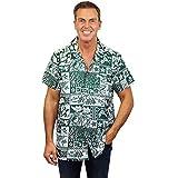 Original King Kameha   Funky Camisa Hawaiana Señores   XS-6XL   Manga Corta Bolsillo Delantero   Impresión de Hawaii   Puzzle