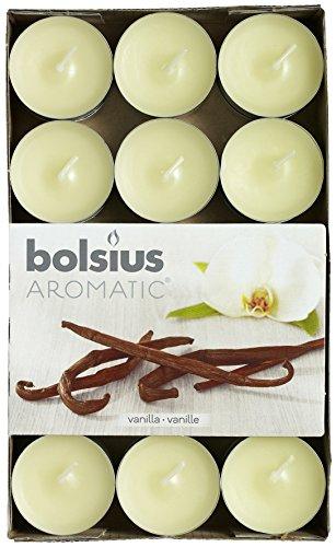 Aromatic candele profumate alla vaniglia, cera di paraffina, confezione da 30