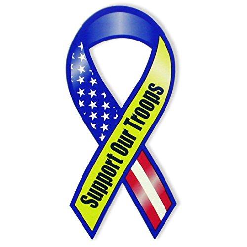 Unterstützen Unsere Truppen 20,3cm Magnet, Rot/Weiß/Blau (American Flag Design) -