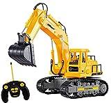 New Top Race® 7-Kanal voll funktionsfähiger Bagger, elektrischer Bautraktor mit RC Fernbedienung (TR-111)