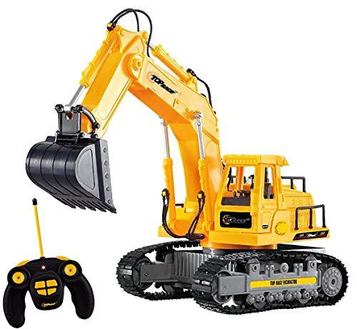 Top Race 7-Kanal-voll funktionsfähiger RC-Bagger, batteriebetriebenes elektrisches RC-Fernsteuerungs-Bau-Traktor mit Lichtern und Ton. TR-111