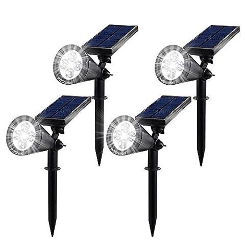Solarleuchten led spotlight Gartenleuchte Wand Lampen Solar