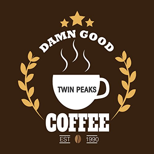 Twin Peaks Damn Good Coffee Women's Hooded Sweatshirt Chocolat