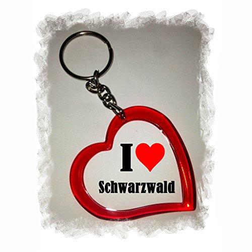 Druckerlebnis24 Herzschlüsselanhänger I Love Schwarzwald, eine tolle Geschenkidee die von Herzen kommt  Geschenktipp: Weihnachten Jahrestag Geburtstag Lieblingsmensch -