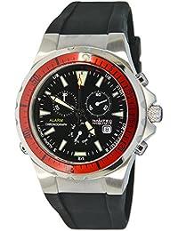 Nautec No Limit Herren-Armbanduhr XL Betta Chronograph Quarz Kautschuk BT QZ-ALA/RBSTRDBK