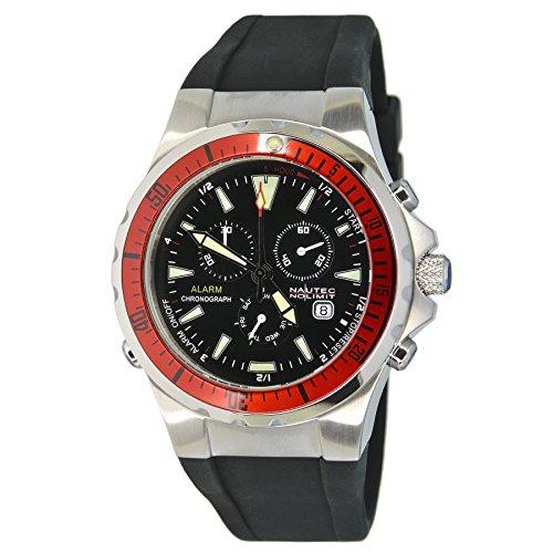 Nautec No Limit Herren-Armbanduhr XL Betta Chronograph Quarz Kautschuk BT QZ-ALA/RBSTRDBK (Betta Wasser)