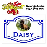 Shetland Pony Stable Door Custom Schild 1043 Aluminium PVC oder Aufkleber 15cm x 20cm approx 6