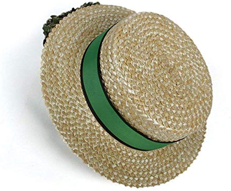 Oudan Cappelli e Berretti Cappello da Sole Fascia in Paglia per Donne con  Fascia Sole verde (Coloreee Naturally 5f7b868129bc