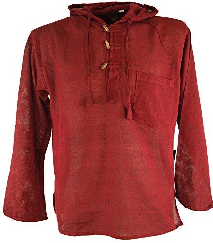 Hippiehemd, Hemd / Männerhemden Bordeaux