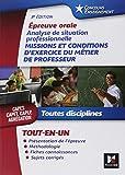 Telecharger Livres Concours Enseignement Analyse de situation professionnelle Oral CAPES CAPET CAPLP Agregation (PDF,EPUB,MOBI) gratuits en Francaise