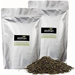Grüner Tee - Japanischer BIO Sencha Uchiyama Grüntee (1kg) von Azafran® - Ca. 400 Tassen Genuss