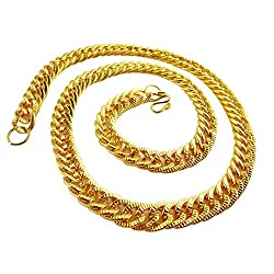 Kette Rapper, Rapper Gold Halsketten, Chain Rapper Gold, Rapper Goldkette, Hip Hop Goldkette, Vergoldete Halskette, Königskette Rock Punk Biker HipHop Rap, 2pc