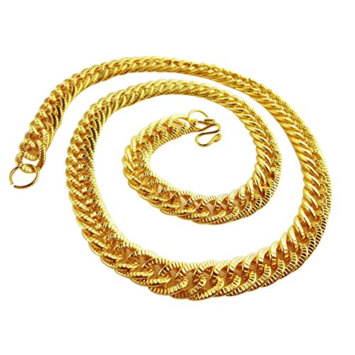 (Kette Rapper, Rapper Gold Halsketten, Chain Rapper Gold, Rapper Goldkette, Hip Hop Goldkette, Vergoldete Halskette, Königskette Rock Punk Biker HipHop Rap, 2pc)
