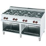 Macfrin R8T Cocina a Gas de 8 Fuegos y Estante 52 Kw