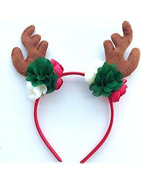 Yinew Eine Kinder Weihnachten Festliche Party Atmosphäre Kopfschmuck Haarreif Antike Blume Baby Haarschmuck