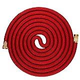 YCDC Manguera de jardín expandible y Flexible, Color Rojo, 15,24 m, para el hogar y el jardín