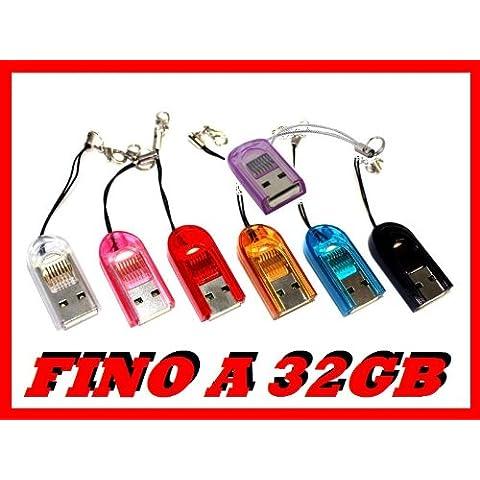 KGC_DOO®| LETTORE MICRO SD MINI ADATTATORE USB