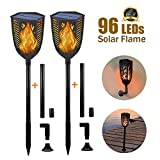 Solar Torch Lights Outdoor-Lanscape Ficking Flame 99 LED Tiki Light Garden Decorative Lighting
