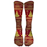 Not afraid Religious Buddha Pattern Unisex 3D Printed Long Length Socks 50CM