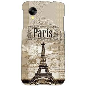 Printland Old Paris Phone Cover For LG Nexus 5 LG-D821
