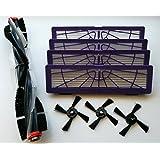 Kit de mantenimiento para Juego cepillos y juego de filtros para Neato BotVac Serie (70, 70e, 75, 80, 85)