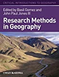 Research Methods Geography (Critical Introductions to Geography)