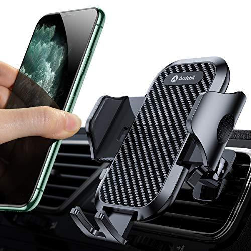 andobil Handyhalter fürs Auto Handyhalterung Neueste Upgrade Lüftung Halterung mit 2 Lüftungsclips Universale Smartphone Halterung kfz 360° Drehbar für iPhone11 11Pro Samsung S20 S10 HUAWEI Xiaomi usw