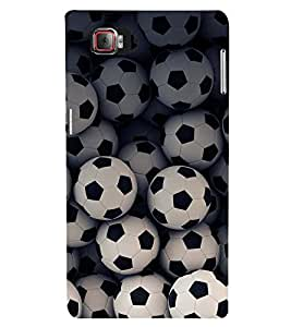 FOOTBALLS PATTERN 3D Hard Polycarbonate Designer Back Case Cover for Lenovo Vibe Z2 Pro K920