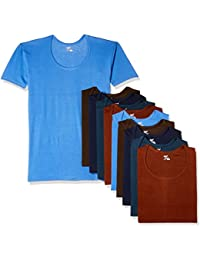 Rupa Jon Men's Cotton Vest (Pack of 10) (Colors May Vary)