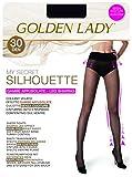 GOLDEN LADY My Secret Silhouette 30 3P Collant, 30 DEN, Nero 099A, Small (Taglia Produttore:2 - S) (Pacco da 3) Donna