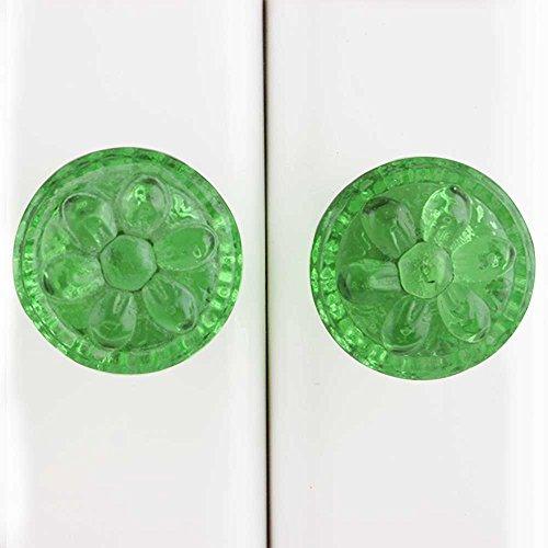 Indianshelf Handmade 10 Stück Glas Green Power Drum künstlerische Schublade Knöpfe Kommode Schrank zieht Möbel Kleiderschrank Türgriffe handgefertigte Designer Vintage Gfks-10 (Drum Schublade)