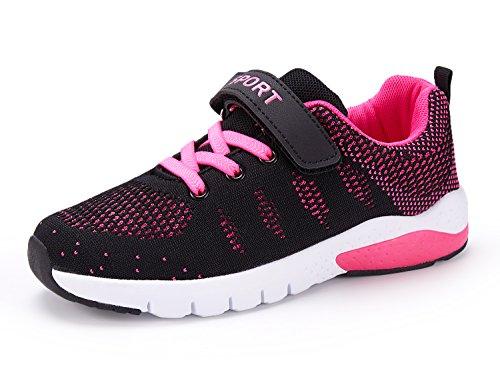 MAYZERO Unisex-Kinder Sneakers Laufen Schuhe Sportschuhe Sneakers Jungen Mädchen Low-Top Sneakers (37 EU,Pink)