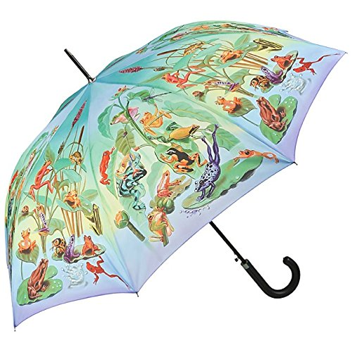Regenschirm Stockschirm mit Motiv - Die große Froschfamilie