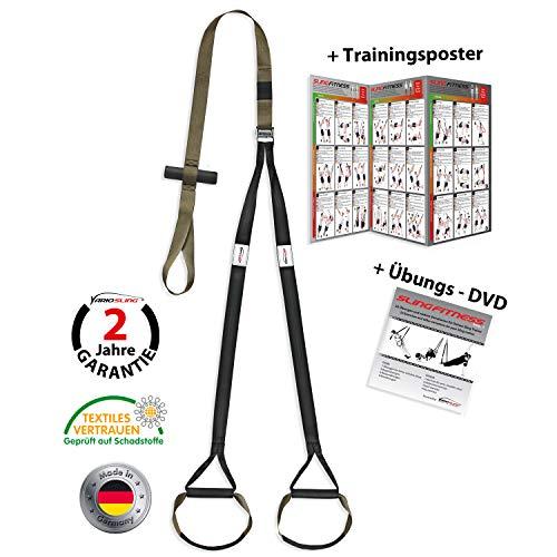 Variosling® Schlingentrainer mit Türanker Military Force Tactical grün kaki - Made in Germany Suspension Trainer Functional Trainer