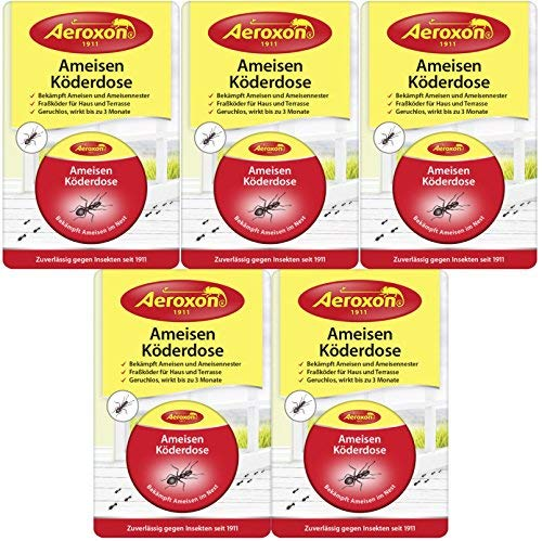 Aeroxon Ameisen Köderdose (5er Pack) - Outdoor-ant-traps
