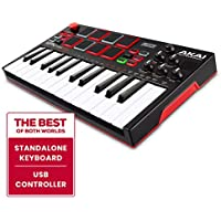 AKAI Professional MPK Mini Play   Standalone Mini Keyboard & USB Controller with Built-In Speaker, MPC-Style Pads, On-board Effects, 128 Instrument & 10 Drum-Sounds and Software Suite Included