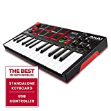 Akai Professional MPK Mini Play - Standalone Mini Keyboard USB Controller mit eingebautem Lautsprecher, Pads im MPC-Stil, On-board Effekte, 128 Instrumenten, 10 Drum-Sounds, Software Suite inklusive