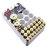 Balai 46pcs Organisateur de Batterie avec testeur, boîte de Stockage de Test de capacité de Batterie pour testeur Amovible de Stockage d'organisateur de Batterie