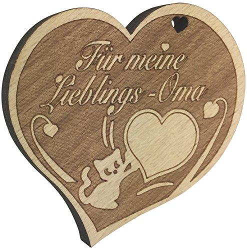 endlosschenken Schöner Kühlschrankmagnet Für Meine Lieblings-Oma aus Holz extra starker Magnet Geschenk vom ORIGINAL