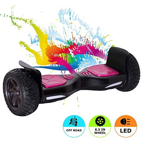 MARKBOARD Hoverboard 8,5 Zoll Elektro Skateboard 700W Motor - Gyropod Modell (schwarz pink)