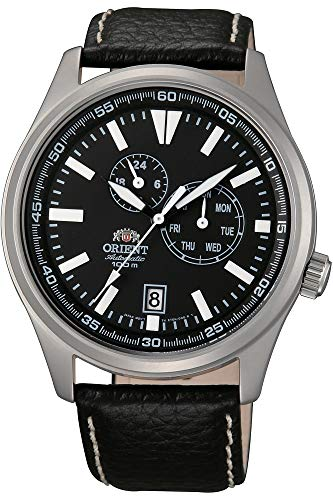 Orient Mens Analogue Automatic Watch with Leather Strap FET0N002B0