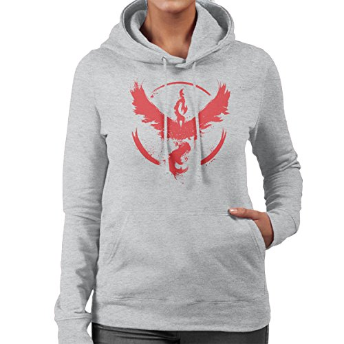 Pokemon Team Valor Women's Hooded Sweatshirt Heather Grey
